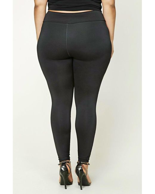 Forever 21 Plus Size Active Leggings In Black Lyst