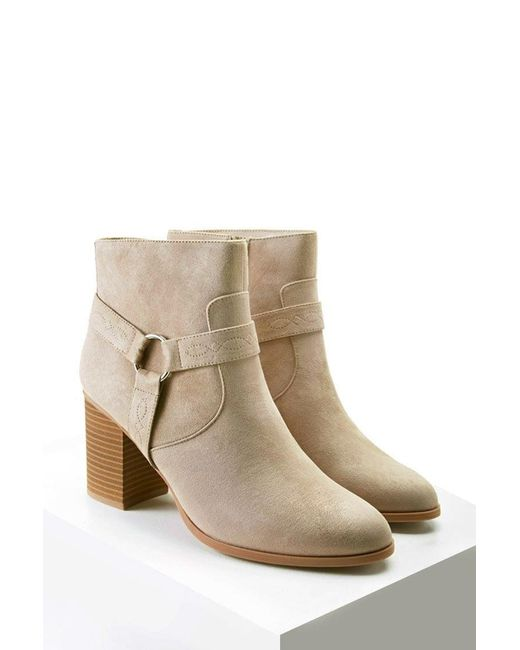 Forever 21 | Gray Embroidered Faux Suede Boots | Lyst