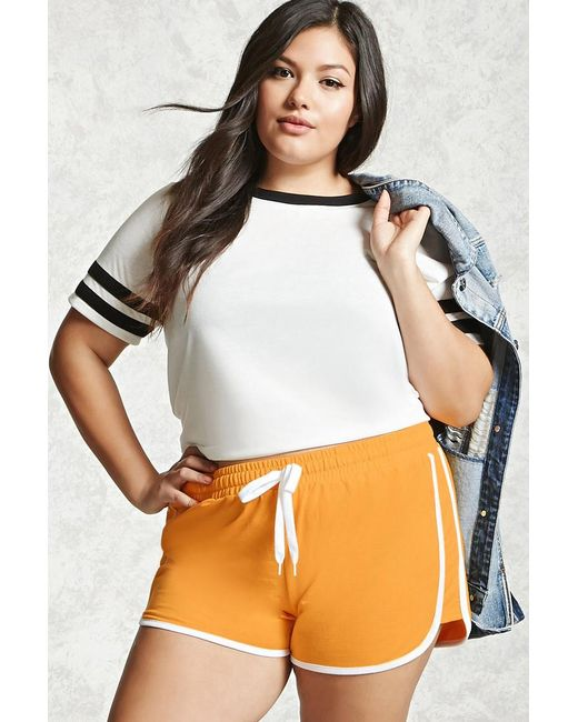 Forever 21   Multicolor Plus Size Contrast Shorts   Lyst