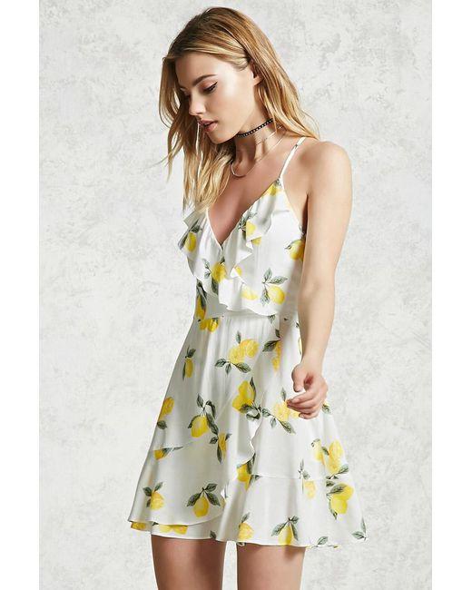 456cee7ec8e9 Forever 21 Lemon Print Cami Dress