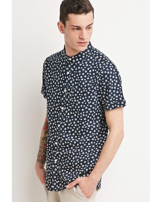 Forever 21 | Blue Abstract Polka Dot Shirt for Men | Lyst