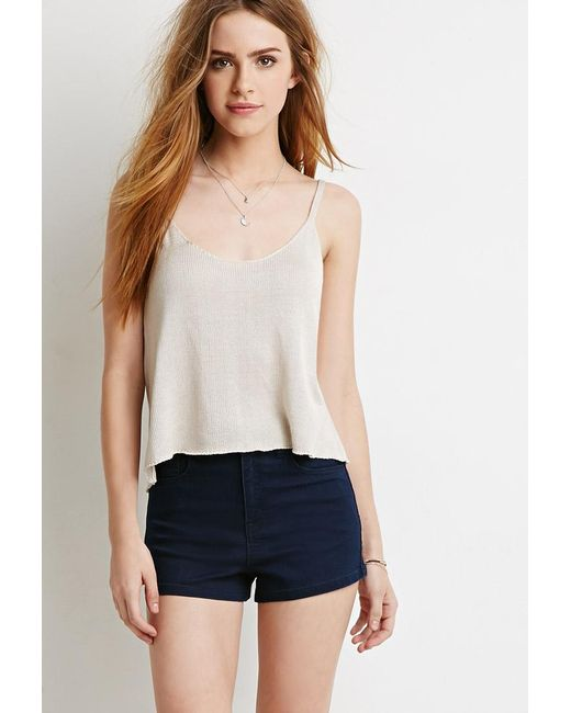 Forever 21 | Blue Clean Wash Denim Shorts | Lyst