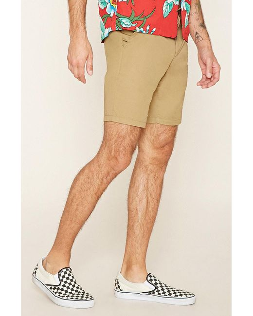 Forever 21 | Natural Woven Chino Shorts for Men | Lyst