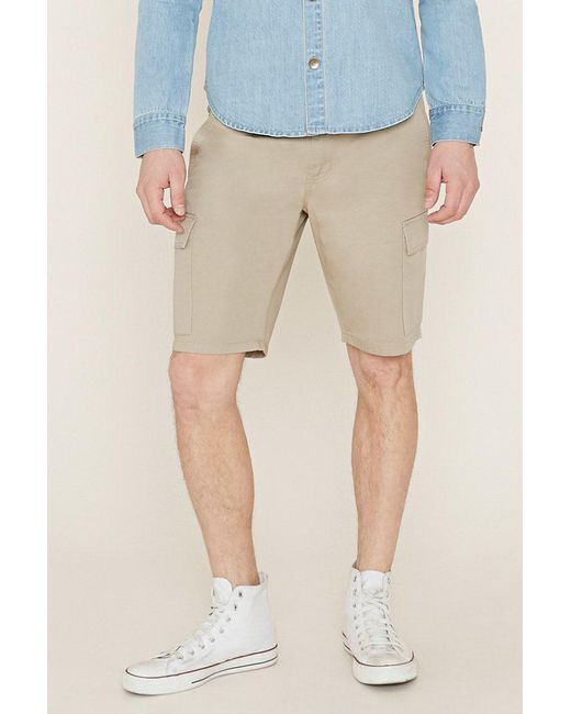 Forever 21 - Natural 's Cotton Cargo Shorts for Men - Lyst