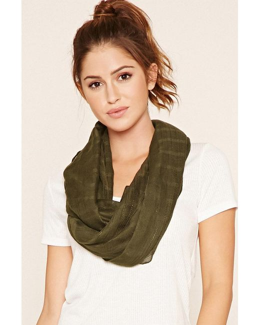 Forever 21 - Green Woven Infinity Scarf - Lyst