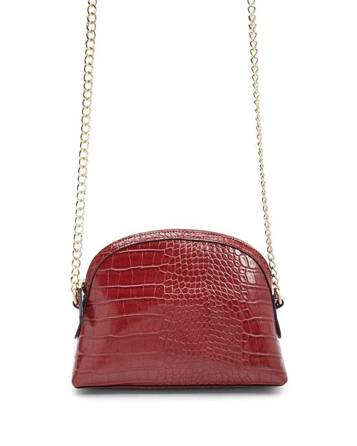 Forever 21 - Red Crocodile Embossed Faux Leather Crossbody Bag - Lyst