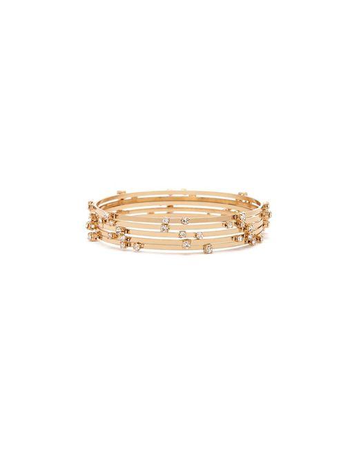 Forever 21 - Metallic Embellished Bangle Bracelet Set - Lyst