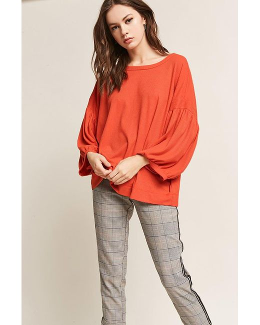 Lyst Forever 21 Balloon Sleeve Knit Top