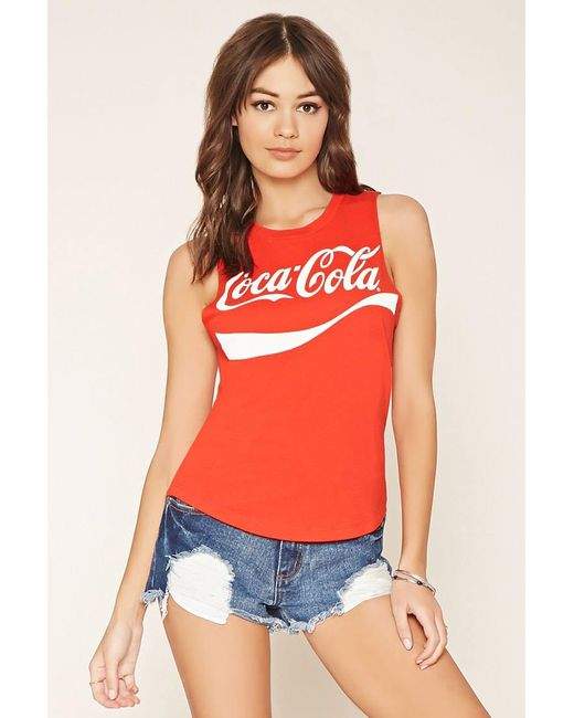 FOREVER21 - Red Coca-cola Muscle Tee - Lyst