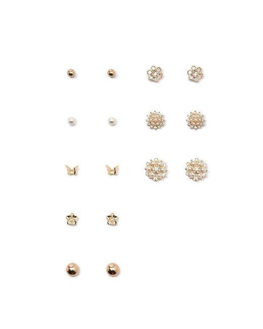 Forever 21 | Metallic Cluster Faux Gem Earring Set | Lyst