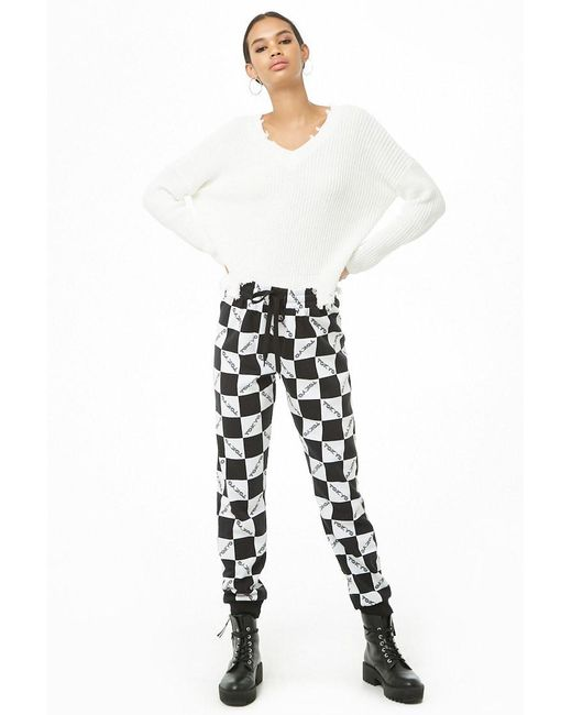 Forever 21 - Black Checkered Tokyo Joggers - Lyst