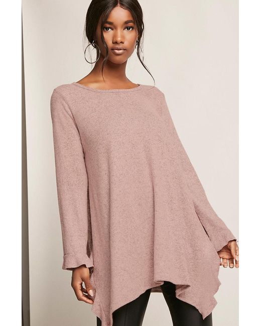 Forever 21   Purple Ruffled Trapeze Top   Lyst