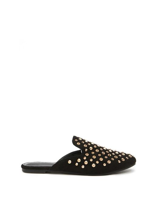 Forever 21 - Black Women's Spiked Stud Flats - Lyst