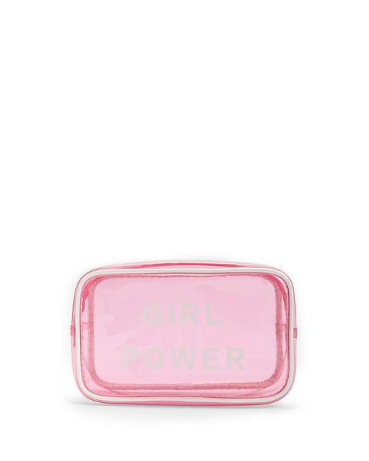 Forever 21 - Pink Girl Power Graphic Makeup Bag - Lyst
