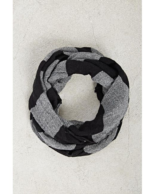 Forever 21 - Black Men Striped Infinity Scarf - Lyst