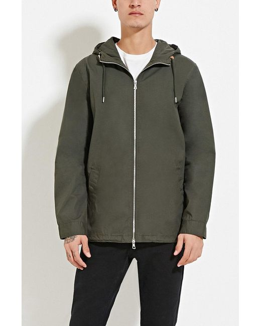 Forever 21 | Green Zipped Utility Jacket for Men | Lyst