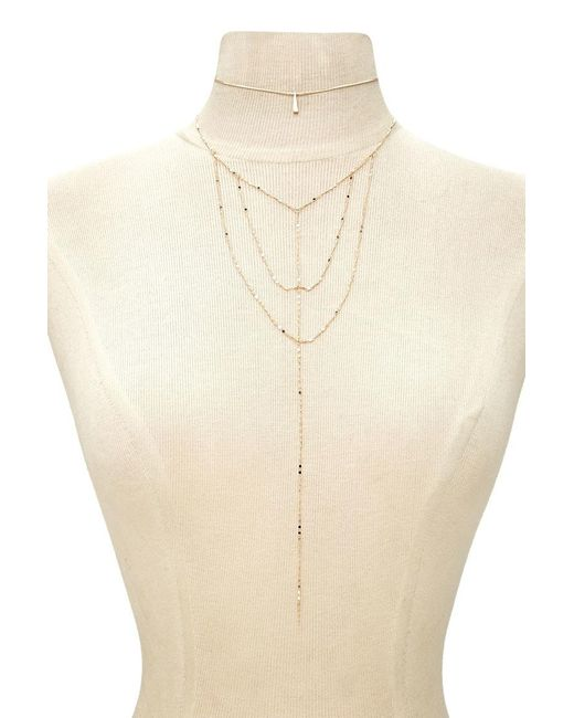 Forever 21   Metallic Choker & Caged Necklace Set   Lyst