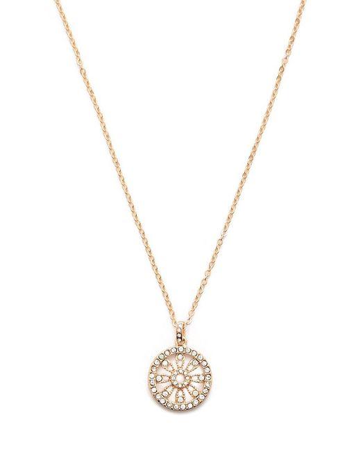 Forever 21 - Metallic Rhinestone Wheel Pendant Necklace - Lyst