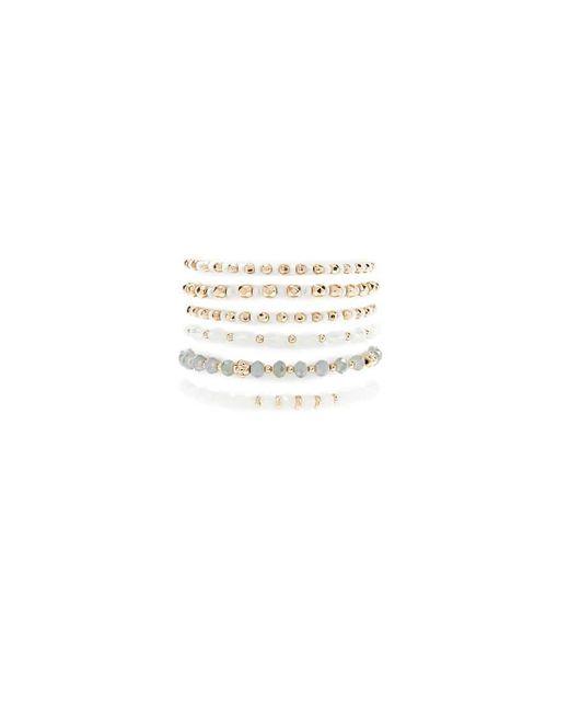 Forever 21 - Metallic Women's Beaded Stretch Bracelet Set - Lyst