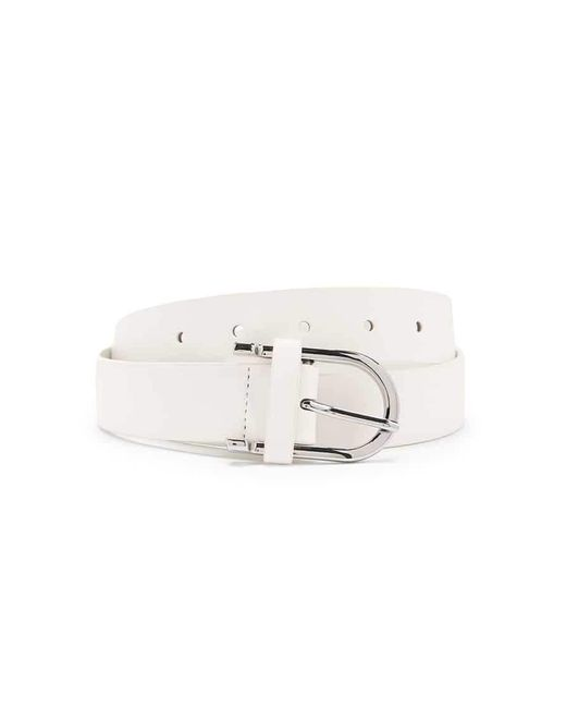 FOREVER21 - White Faux Leather Hip Belt - Lyst