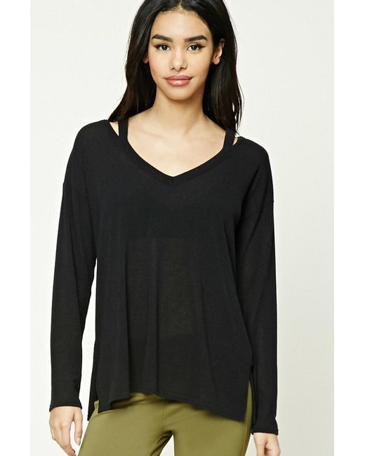 Forever 21 | Black Strappy Cutout Top | Lyst