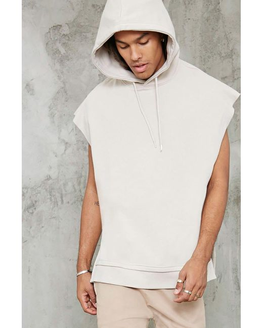 Forever 21 | Multicolor Raw-cut Sleeveless Hoodie for Men | Lyst