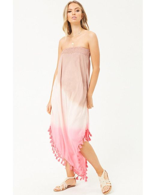Forever 21 - Pink Women's Boho Me Ombre Maxi Dress - Lyst