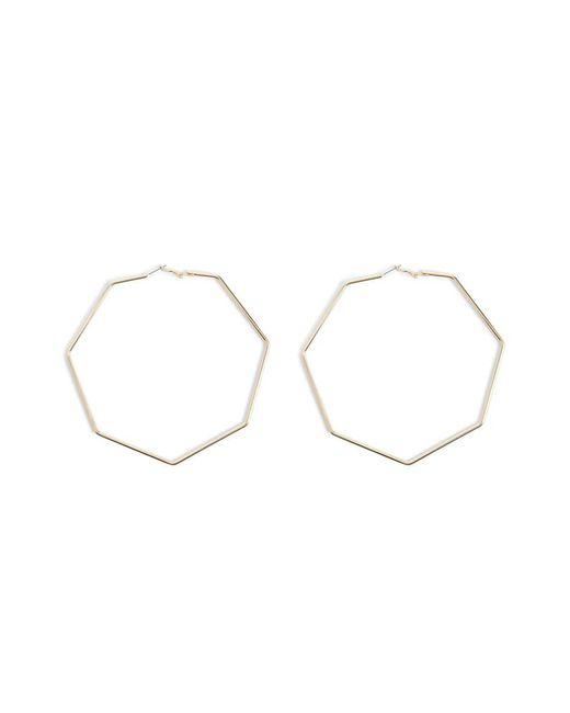 Forever 21 - Metallic Oversized Heptagon Earrings - Lyst
