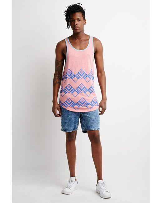 Forever 21 | Blue Acid Wash Denim Shorts for Men | Lyst