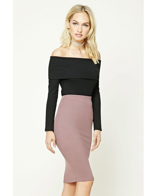 Forever 21 | Purple Contemporary Pencil Skirt | Lyst
