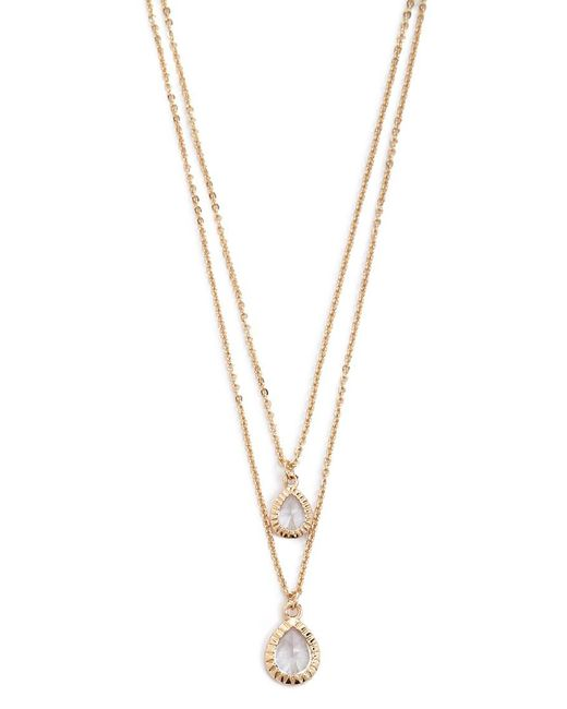 Forever 21 - Metallic Cz Stone Layered Necklace - Lyst