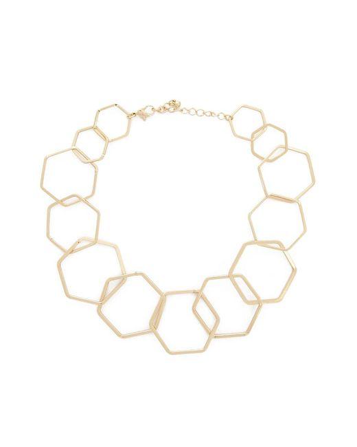 Forever 21 - Metallic Cutout Hexagon Necklace - Lyst