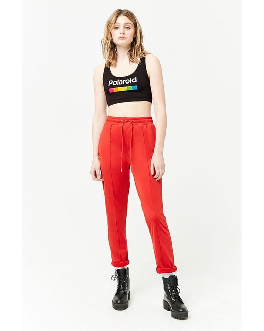 5a6122edd4548 ... Forever 21 - Black Polaroid Graphic Crop Top - Lyst ...