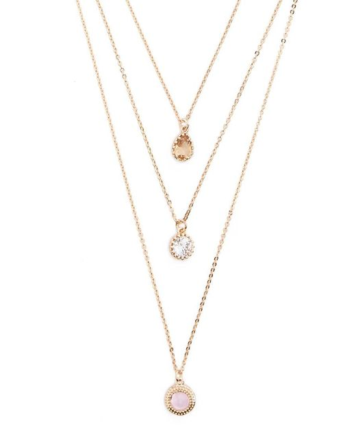 Forever 21 - Metallic Women's Sparkling Faux Gem Charm Necklace Set - Lyst