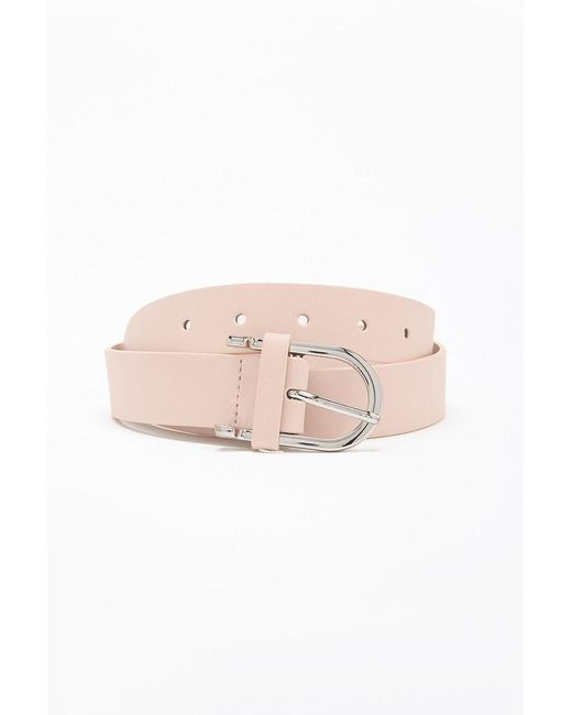 Forever 21 - Pink Faux Leather Hip Belt - Lyst