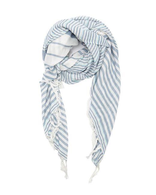 Forever 21 - Blue Stripe Tassel Oblong Scarf - Lyst