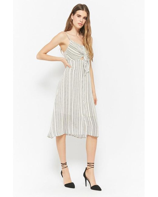 Forever 21 - White Striped Cami Dress - Lyst