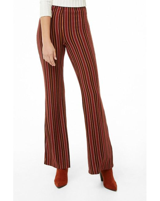 Forever 21 - Red Multicolor Striped Palazzo Pants - Lyst