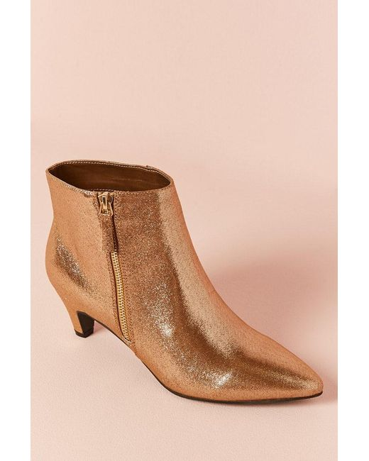 Forever 21 | Metallic Faux Leather Ankle Boots | Lyst
