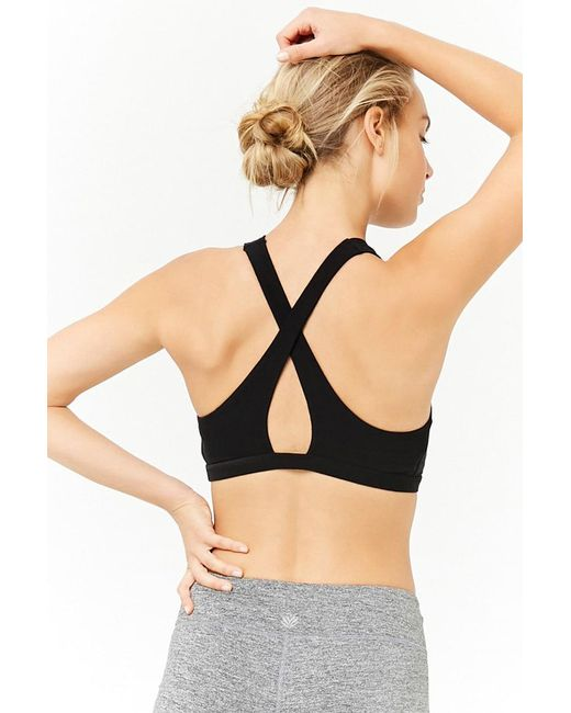 Forever 21 - Black High Impact - Sports Bra - Lyst