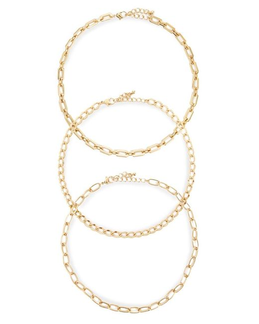 Forever 21 Metallic Women's Chain Necklace Set