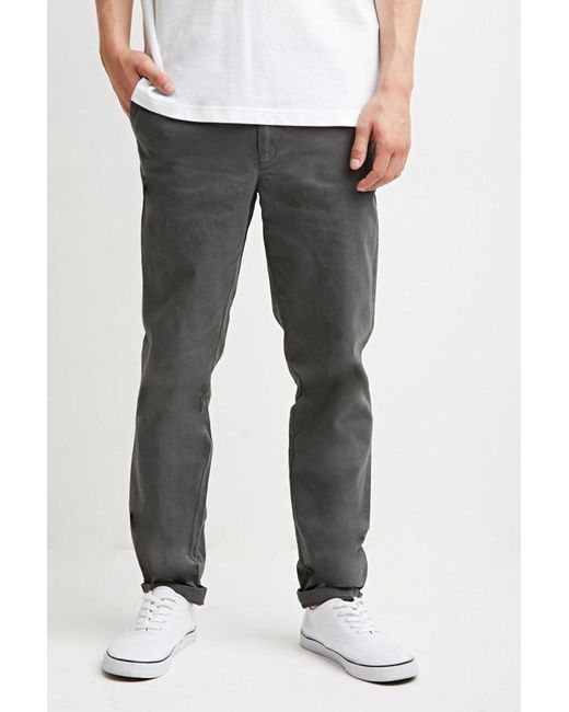 Forever 21 - Gray Classic Chinos for Men - Lyst
