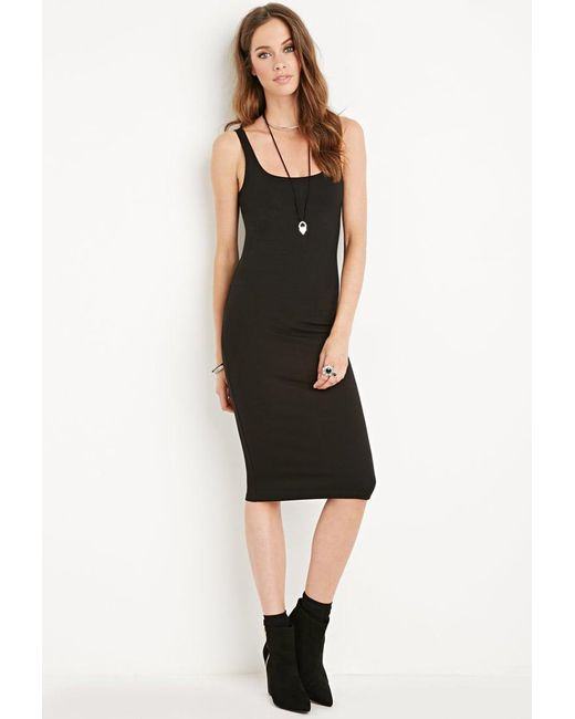 Forever 21 | Black Scoop Neck Bodycon Dress | Lyst