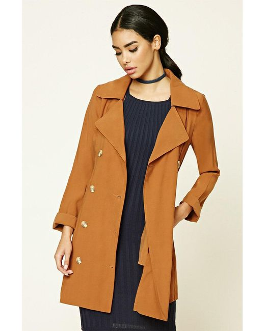 Forever 21 | Brown Belted Trench Coat | Lyst