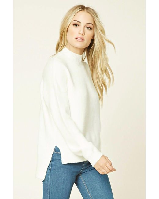 Forever 21 | White Contemporary High-neck Sweater | Lyst