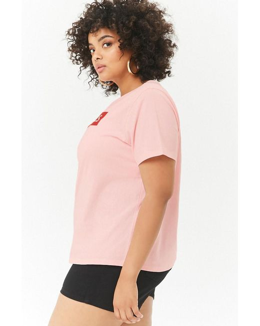 52f06d6bac0 ... Forever 21 - Pink Plus Size Thrill Graphic Tee - Lyst ...