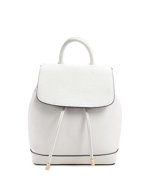 Forever 21 - White Faux Leather Backpack - Lyst
