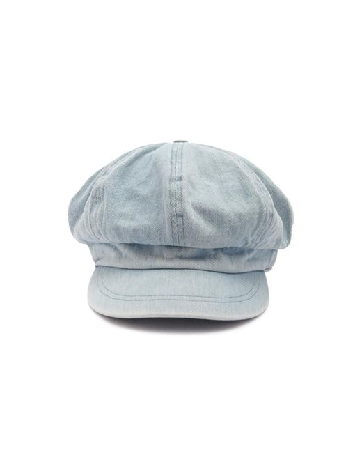... Forever 21 - Blue Denim Cabby Hat - Lyst 405f79f6aa5f