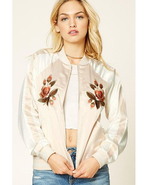 Forever 21 - Natural Women's Contemporary Embroidered Jacket - Lyst