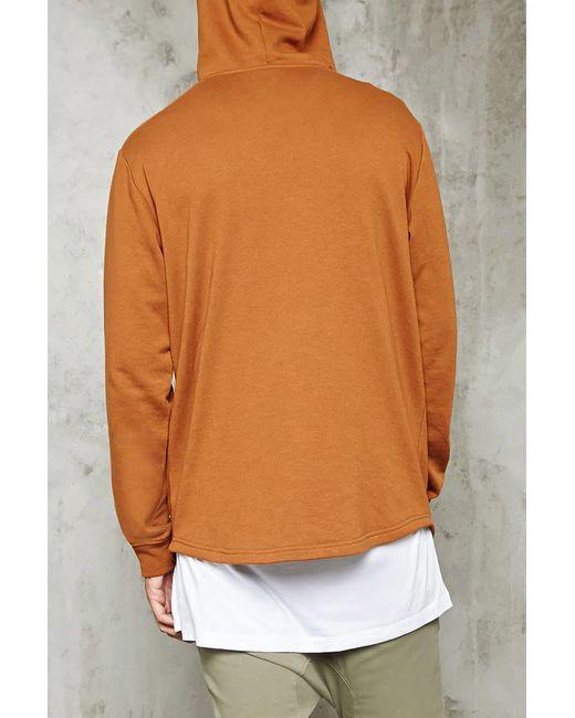 ... Forever 21   Brown Zippered Kangaroo Pocket Hoodie for Men   Lyst ...